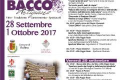 Bacco Artigiano 2017 Eventi Rufina